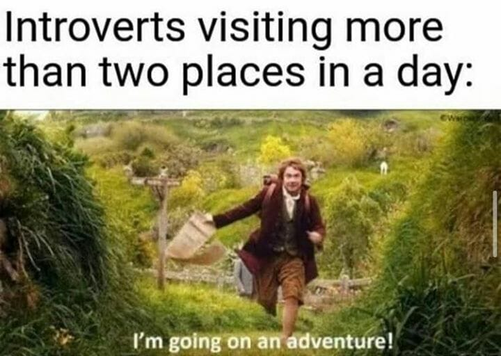 Introverts visiting more than 2 places in a day