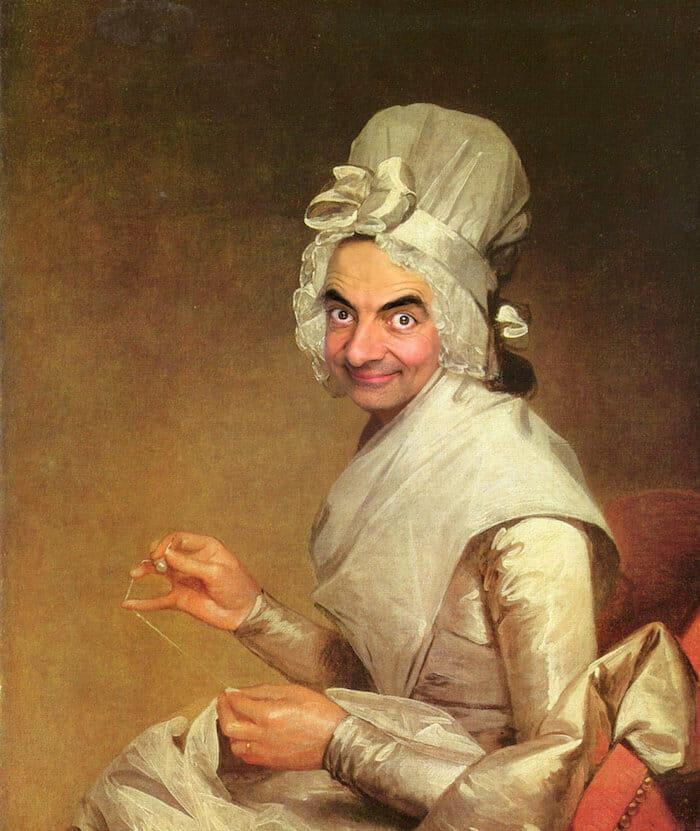 Mr Bean photo manipulation