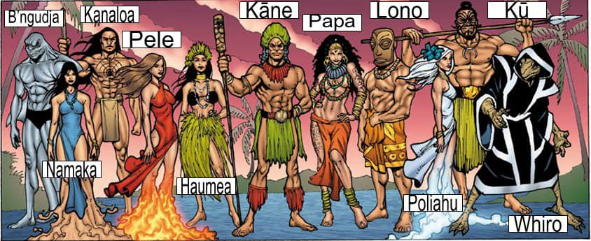 Oceanic gods