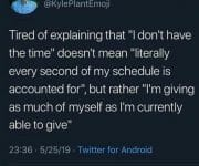 Introvert doesnt have the time