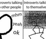 Introverts talking to other people v talking to themselves