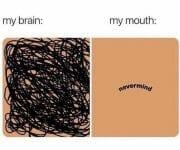 My brain my mouth