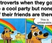 No friends at a party