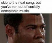 No socially acceptable music