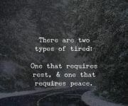 Two types of tired