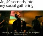 When im at a social gathering