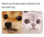 When both of you are shy