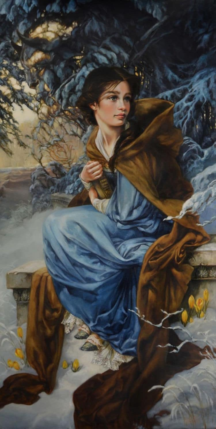 Disney characters oil paintings heather theurer 2