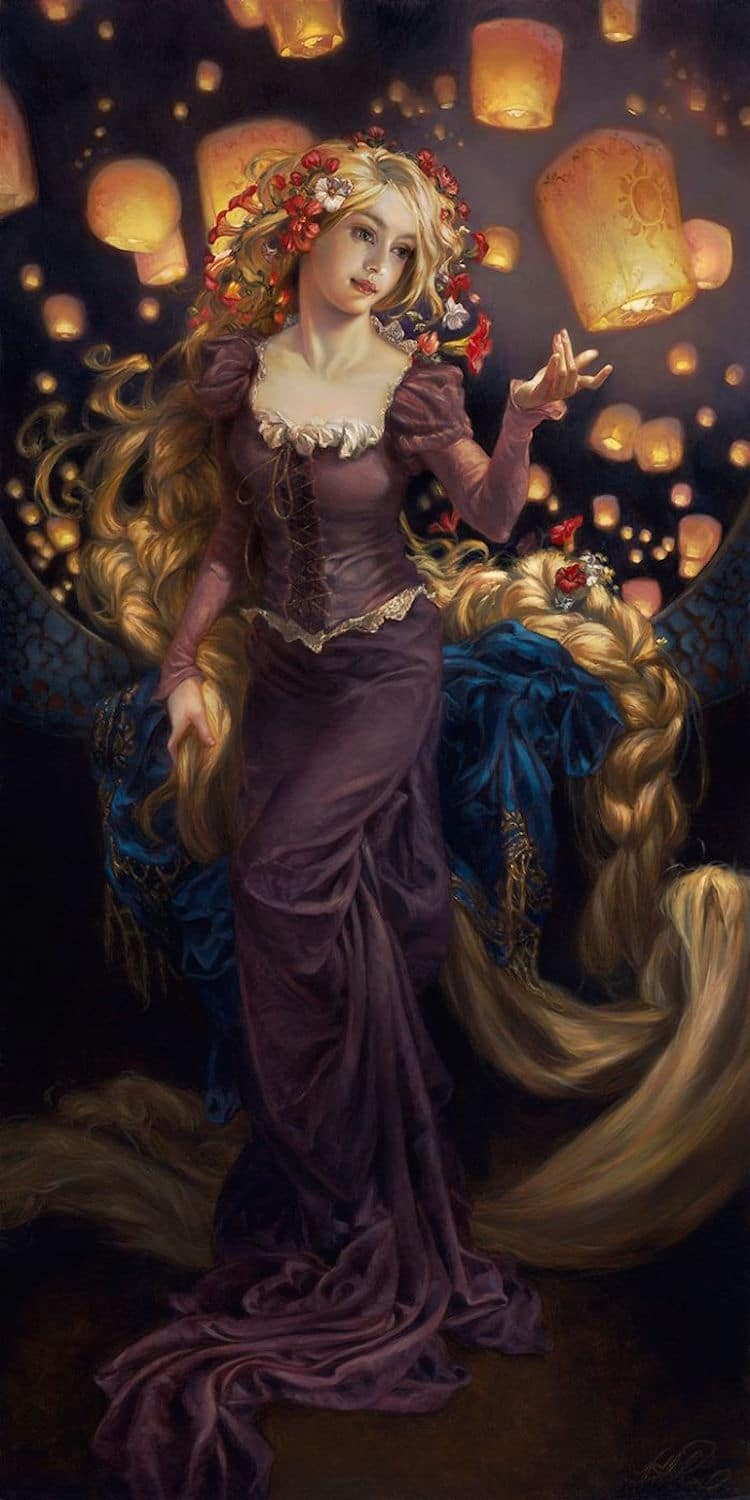 Disney characters oil paintings heather theurer 3