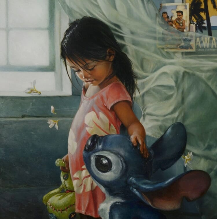 Disney characters oil paintings heather theurer 4