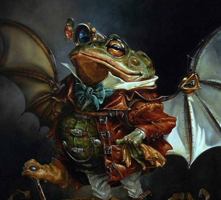 The insatiable mr. Toad reimagined as a classic oil painting