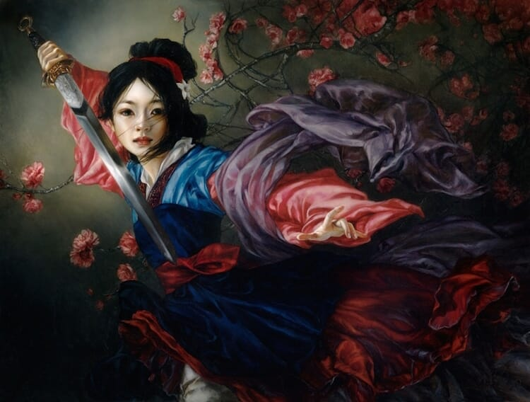 Disney characters oil paintings heather theurer 6