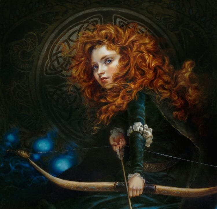 Disney characters oil paintings heather theurer 7