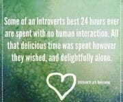 Introvert alone time