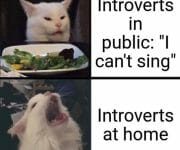 Introverts singing at home