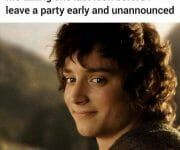 Introvert leaving the party unannounced