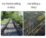 Introvert telling a story