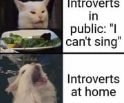 Introverts can sing at home