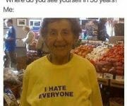 Where do you see yourself in 50 years